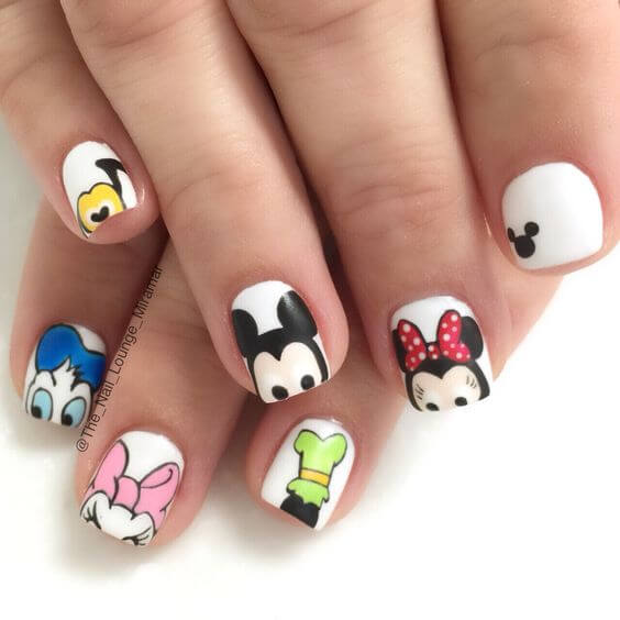 Walt Disney Cartoon Nail Art