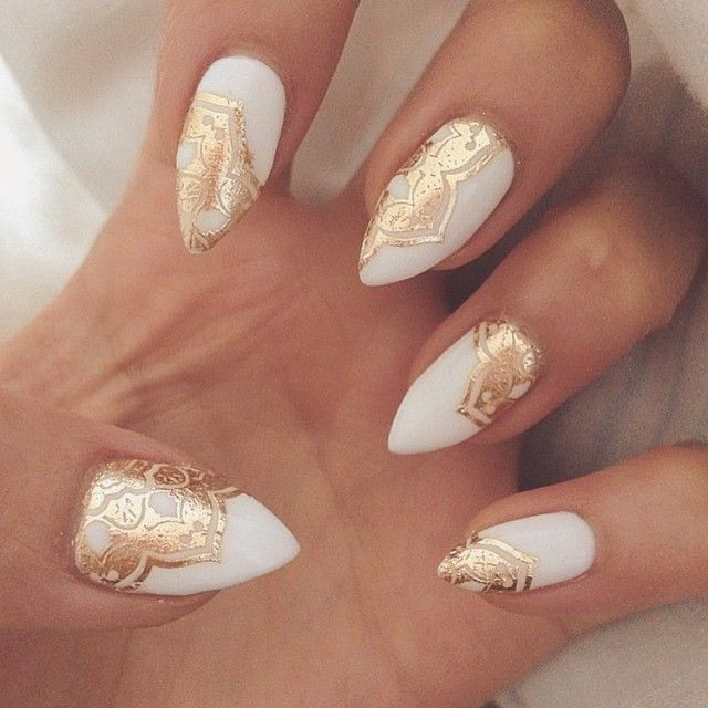 Gold and white nail designs graham reid gold and white nail art best nails art ideas prinsesfo Choice Image