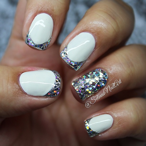 57 Most Beautiful Glitter Nail Art Design Ideas: 52+ Classic Glitter Nail Art Design Ideas For Trendy Girls