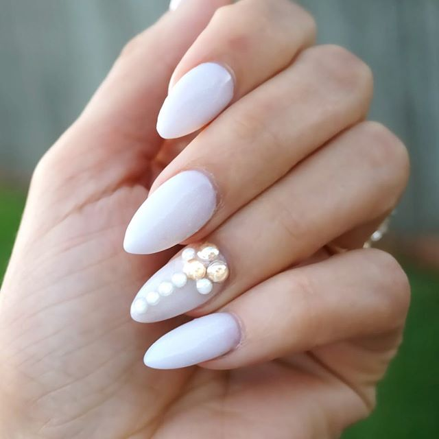 70 Most Beautiful 3d Nail Art Design Ideas For Trendy Girls: Long Sti Nails With Rhinestones