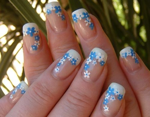 Nail art in blue and white images nail art and nail design ideas nail art in blue and white choice image nail art and nail design nail art blue prinsesfo Choice Image