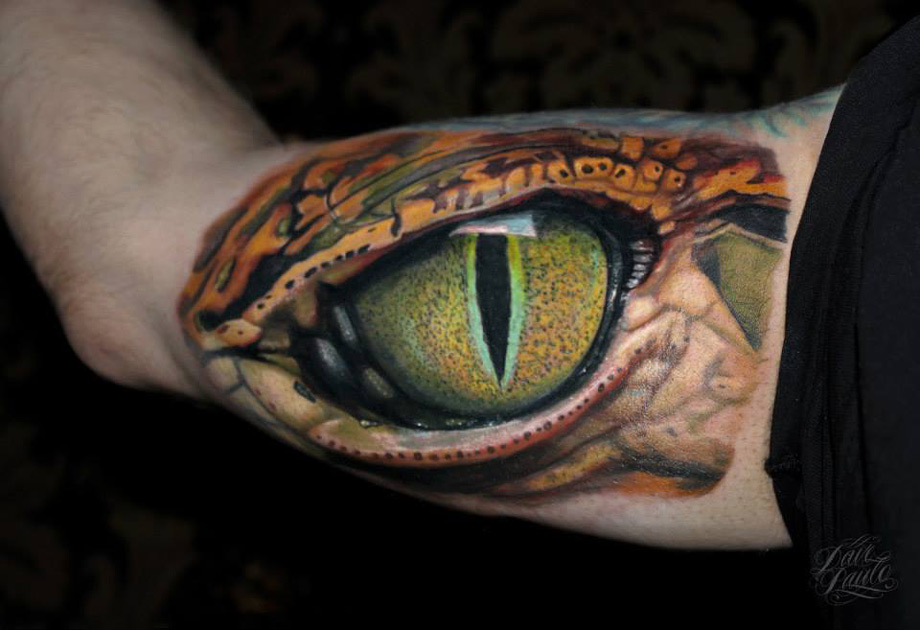 38 best reptile tattoos collection for Dragon eye tattoo
