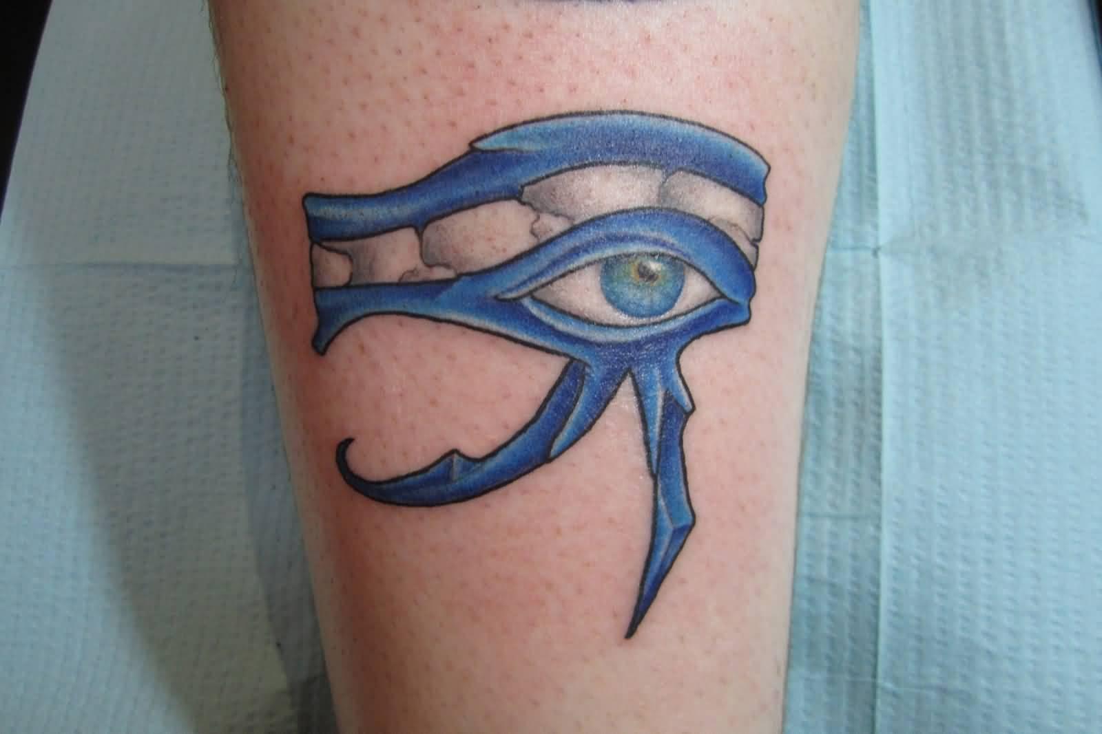 11e794b4640c6 Wonderful Blue Color Horus Eye Tattoo