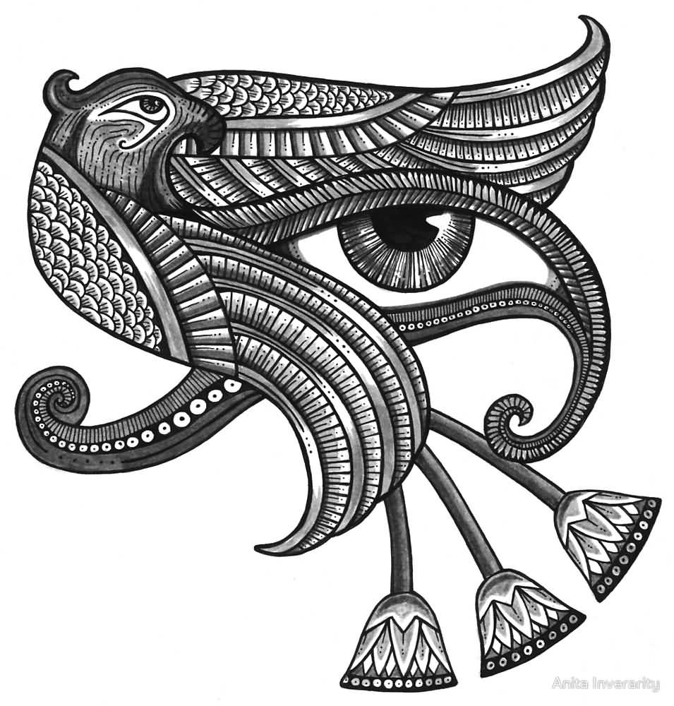 45 Latest Horus Eye Tattoo Designs