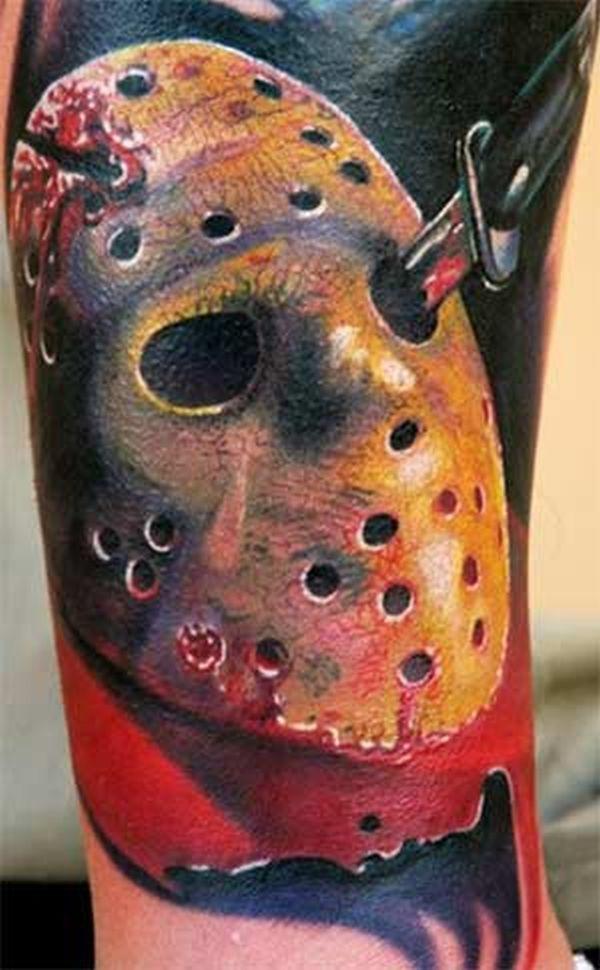 35 wonderful jason mask tattoos. Black Bedroom Furniture Sets. Home Design Ideas