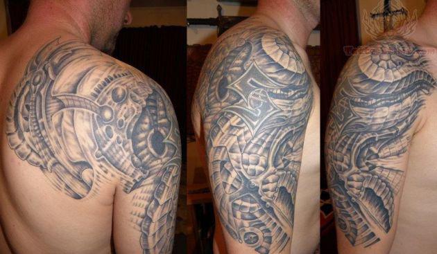 41 mechanical tattoos on shoulder. Black Bedroom Furniture Sets. Home Design Ideas