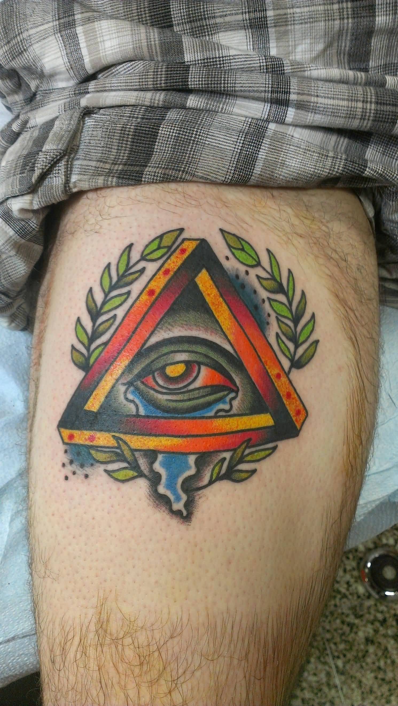 Wonderful Eye Makeup Tutorials You Need To Copy: 30+ Triangle Eye Forearm Tattoos