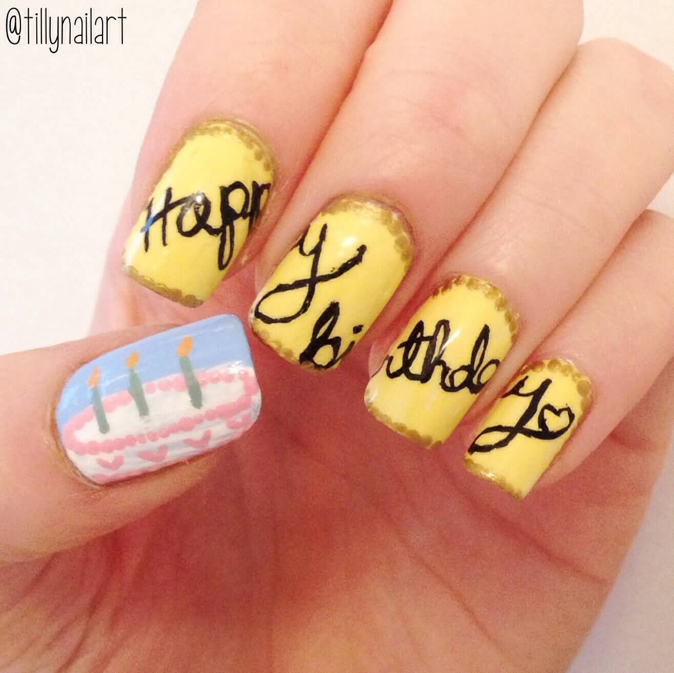 Birthday Cake Nails: 50 Best Birthday Nail Art Designs