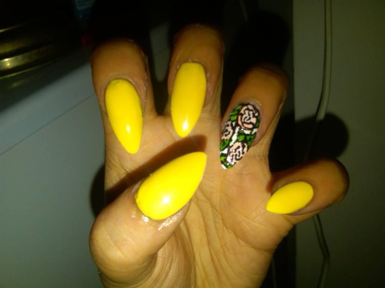 35 cool stiletto nail art designs