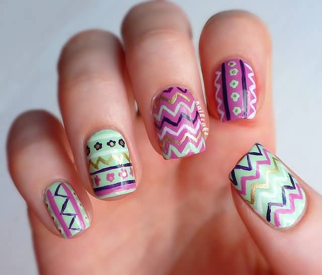 65+ Cool Tribal Nail Art Designs