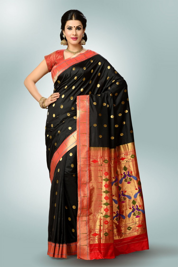Paithani Saree Black Colour