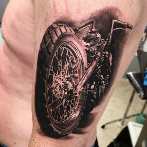 27 harley tattoos on sleeve for Tattoo designs motorcycle