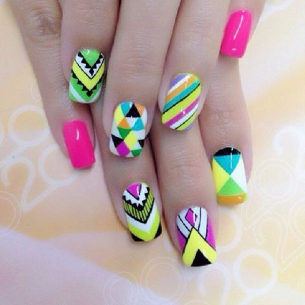 65+ Latest Mosaic Nail Art Design Ideas For Girls