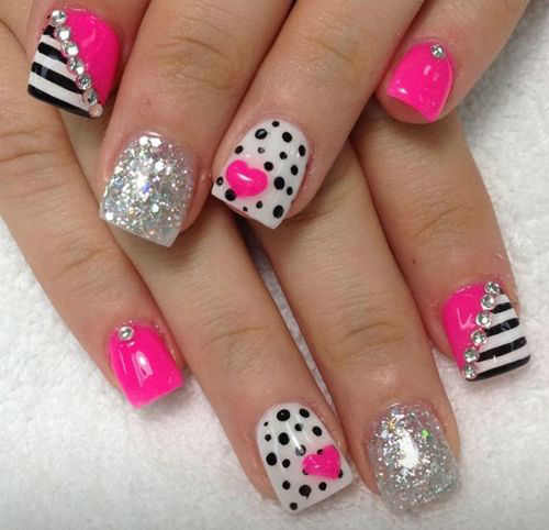 Cute Nail Designs For Valentines Day | Graham Reid - Emejing Valentine Nail Design Ideas Ideas - Decorating Interior
