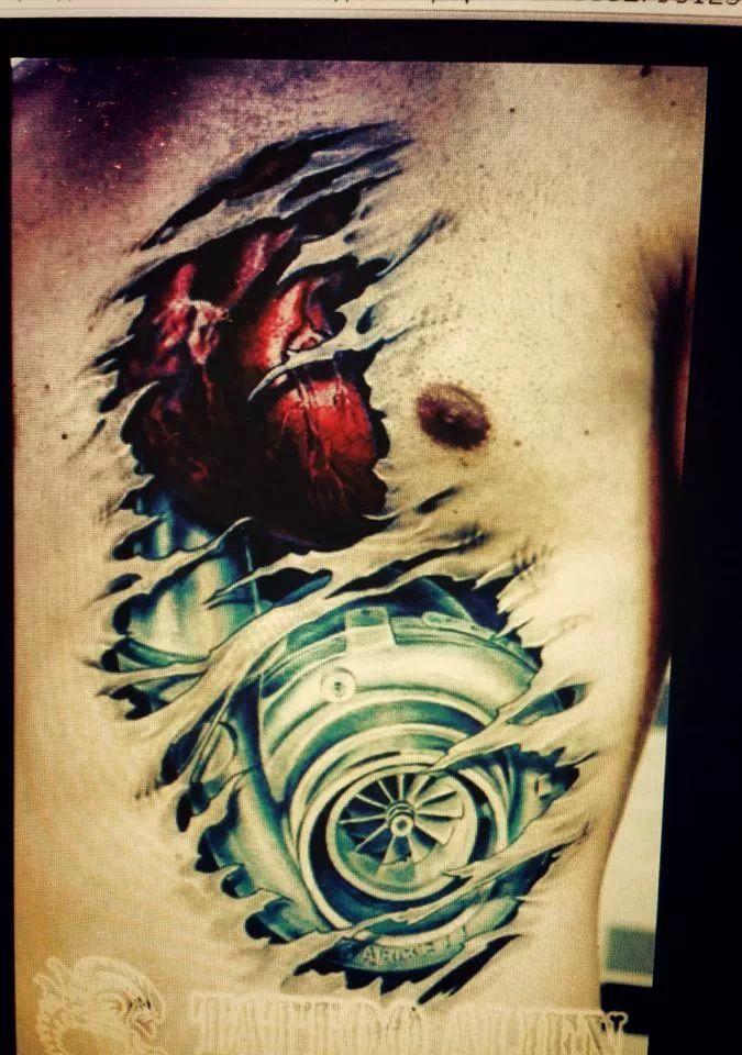 8 Turbo Tattoo Designs