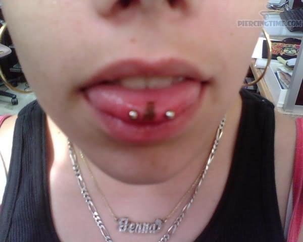 Awesome Snake Eyes Piercing With Silver Barbell