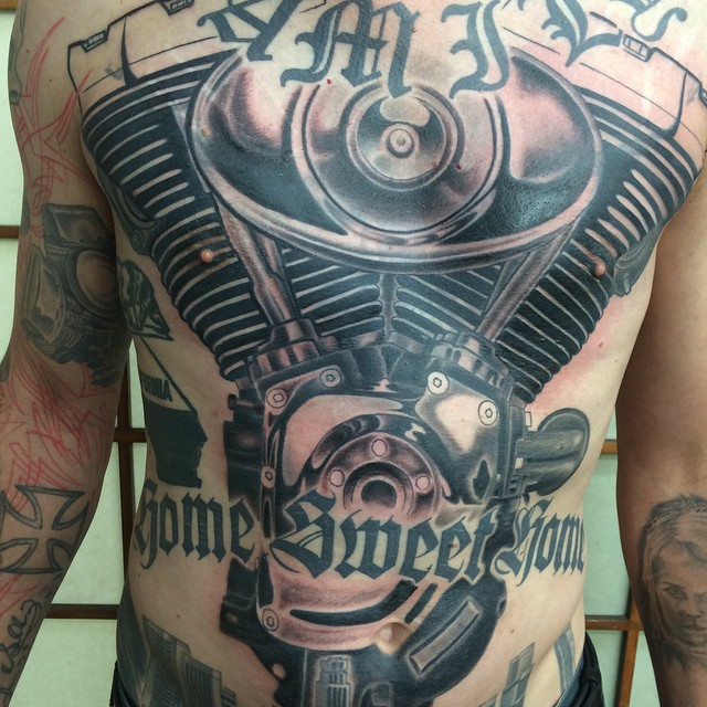 24+ Harley Engine Tattoos