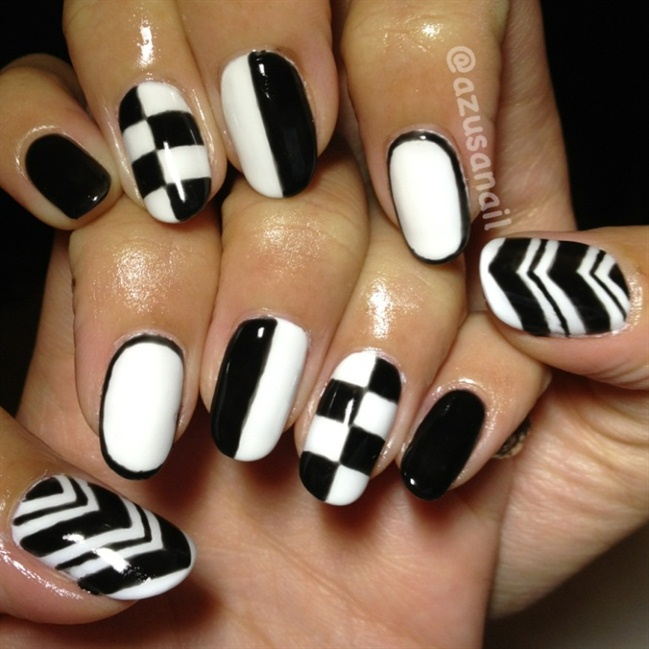 Love Nail Art Designs Gallery: 50+ Most Beautiful Black And White Nail Art Designs