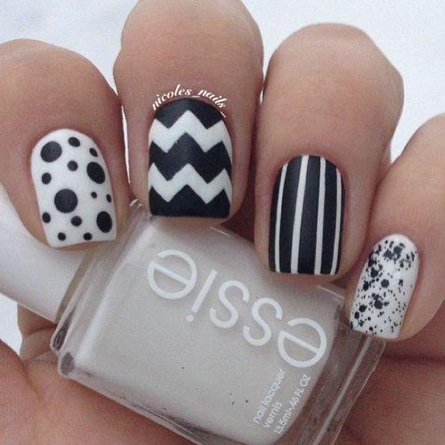 60 Latest Black And White Nail Art Design Ideas