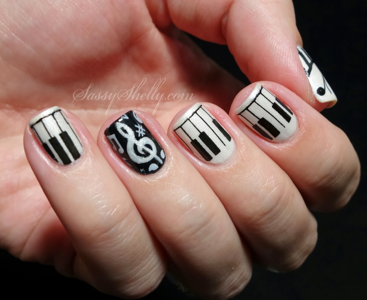 Modern Tribal Nail Design Black And White Component - Nail Art Ideas ...