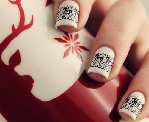 65 Christmas Nail Art Ideas: 65+ Best Black And White Nail Art Design Ideas For Trendy