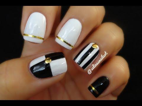 Black And White Nail Designs Nail Ftempo