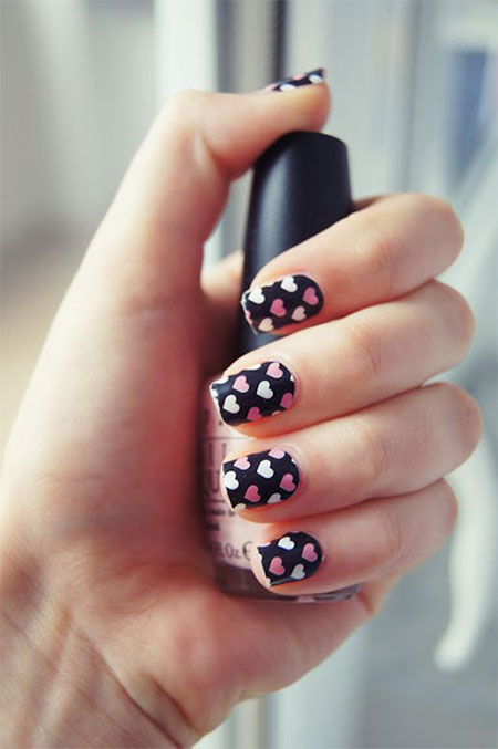 Nail Art Designs On Black Base Hession Hairdressing