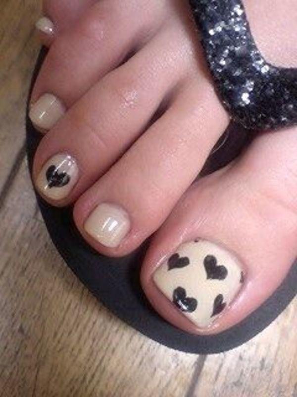 Pink And Black Toe Nail Art - Nails - Nail Polish, Nail Colour ...