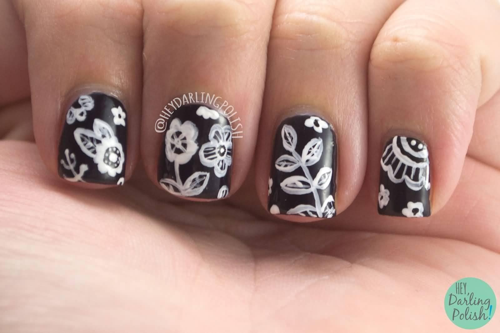 Nails Art: 55+ Most Amazing Black And White Nail Art Design Ideas