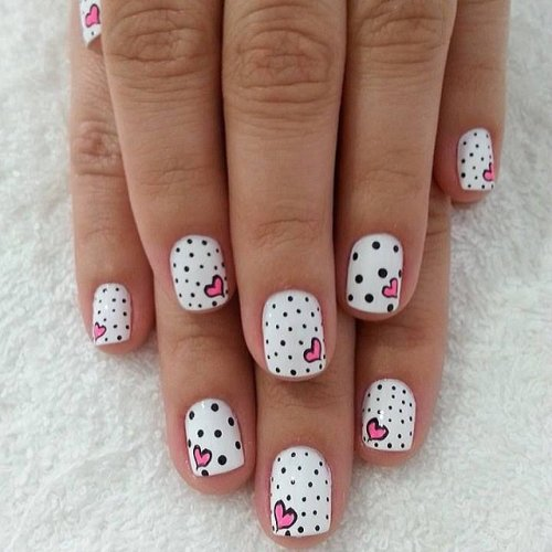 Nail art pink and white best nails art ideas prinsesfo Choice Image