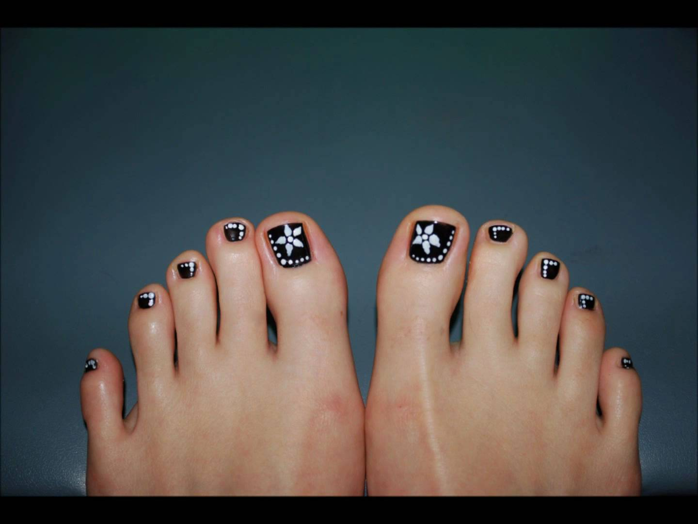 toe nail art design for beginners youtube