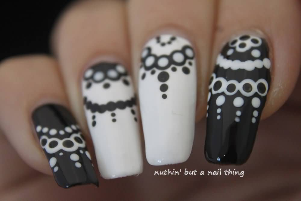 Black and white polka dots nail design nail art designs ideas nail art black and white polka dots view images prinsesfo Gallery