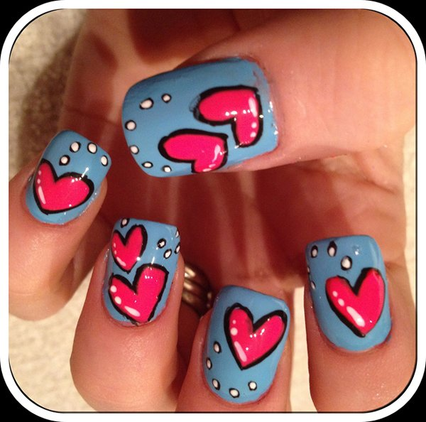45 Latest Heart Nail Art Designs For Trendy Girls