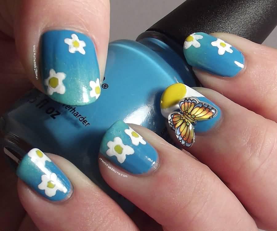 30 3d Acrylic Nail Art Designs Ideas: 30+ Beautiful 3D Butterflies Nail Art Design Ideas