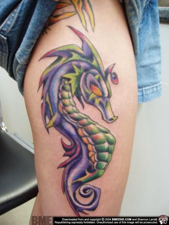 Seahorse Tattoo: 20+ Sea Creature Tattoo Designs And Ideas