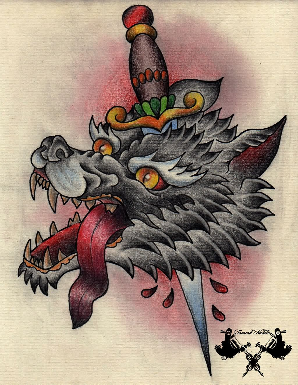 35 Knife And Dagger Tattoo Designs