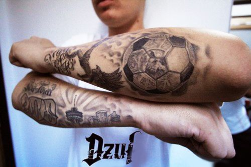 35 best football tattoos ideas. Black Bedroom Furniture Sets. Home Design Ideas