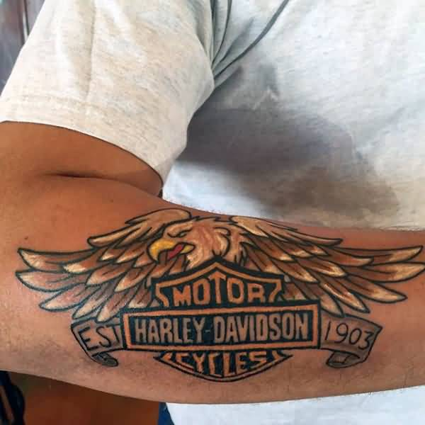 30 harley tattoos on forearm. Black Bedroom Furniture Sets. Home Design Ideas