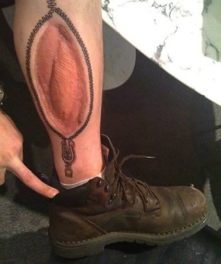 Tattoo Ideas You Can Hide: 18+ Zipper Tattoos On Leg