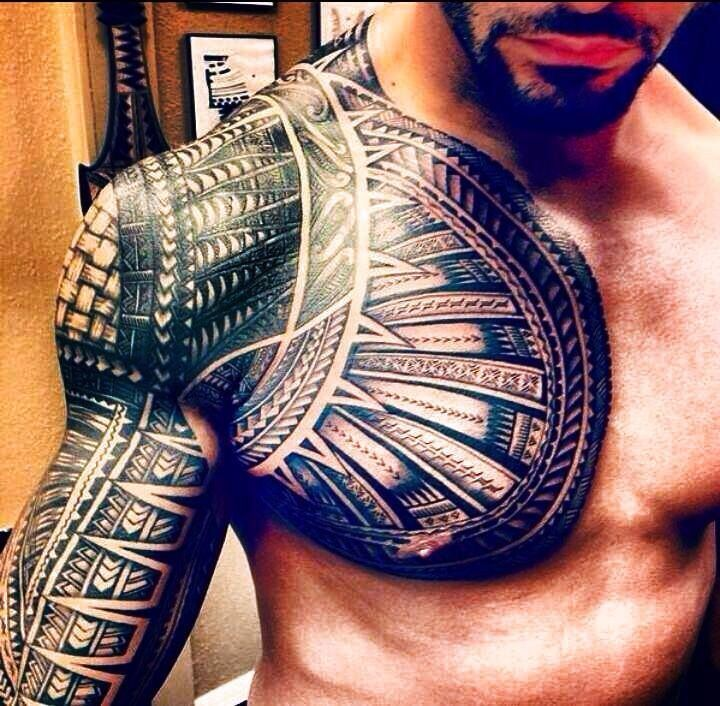37 samoan tattoos on half sleeve for Tribal warrior tattoos