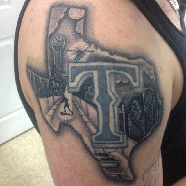 Texas Sleeve Tattoos