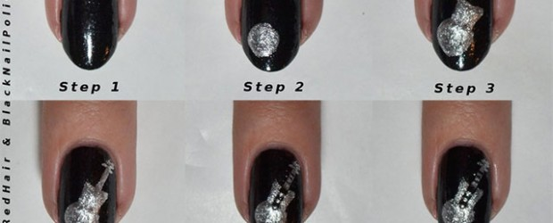 Guitar Design Music Nail Art Tutorial Idea