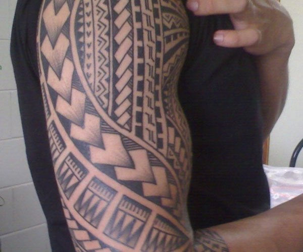 37 samoan tattoos on half sleeve. Black Bedroom Furniture Sets. Home Design Ideas