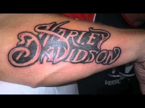 cb1277e63 Harley Davidson Words Tattoo On Arm Sleeve