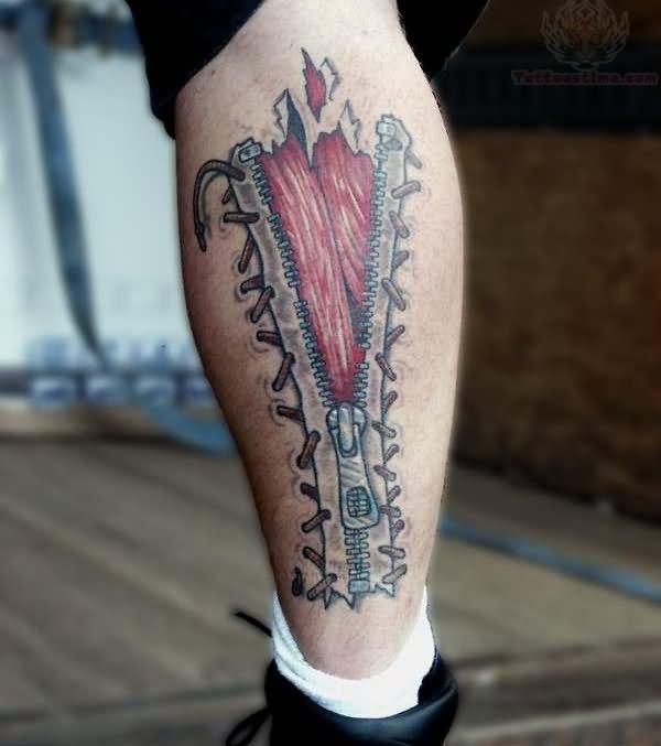 10+ Zipper Tattoo Designs