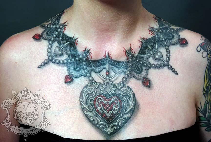 8 necklace tattoo designs. Black Bedroom Furniture Sets. Home Design Ideas