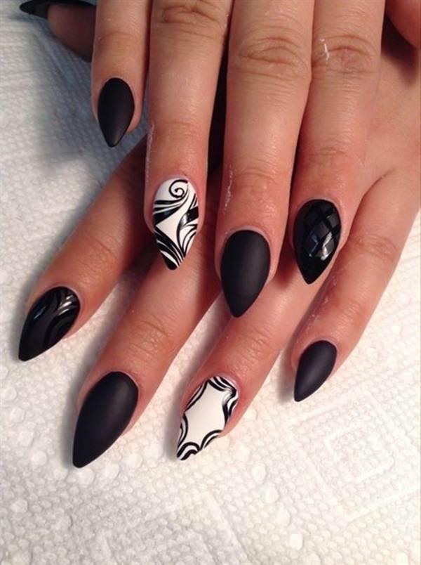 65+ Best Black And White Nail Art Design Ideas For Trendy Girls
