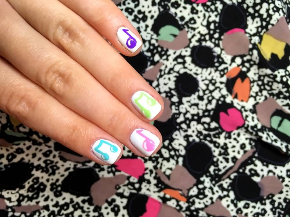 42+ Latest Music Nail Art Design Ideas