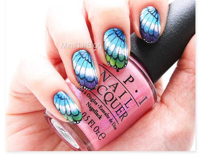Multicolored Erfly Wings Nail Art Design Idea