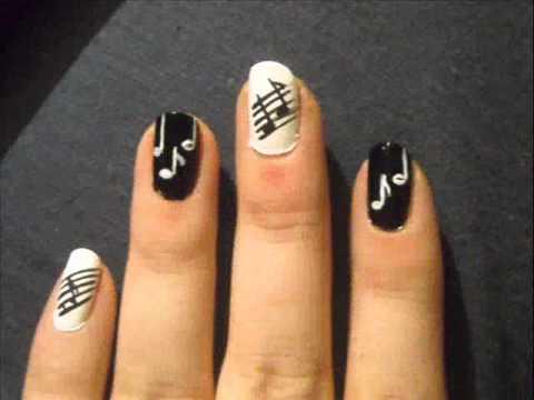 - Musical Note Nail Art Design
